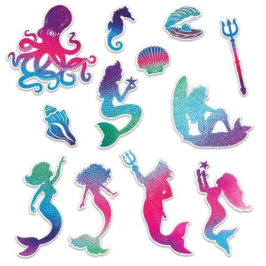 Birthday Party Decorations Mermaid Cutouts Image