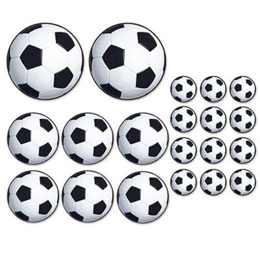 Sports Decorations Soccer Ball Cutouts Image