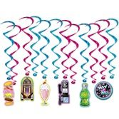 Fifties Decorations Soda Shop Whirls Image
