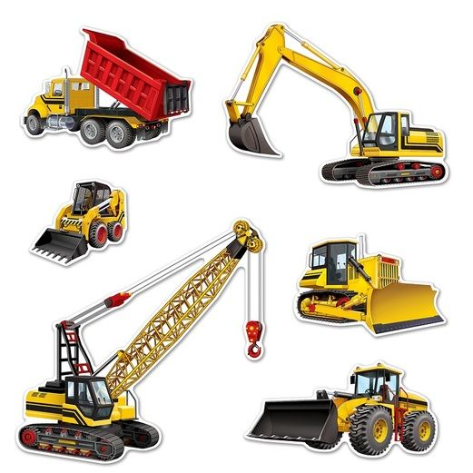 Birthday Party Decorations Construction Equipment Cutouts Image