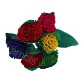 Cinco de Mayo Decorations Cornhusk Carnations Image