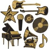 Awards Night & Hollywood Decorations Foil Music Award Cutouts Image