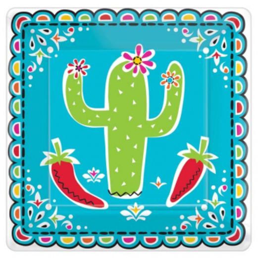 "Fiesta Table Accessories Picado de Papel 7"" Square Plates Image"