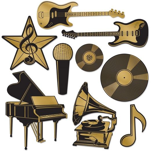 Music Decorations Foil Music Award Cutouts Image
