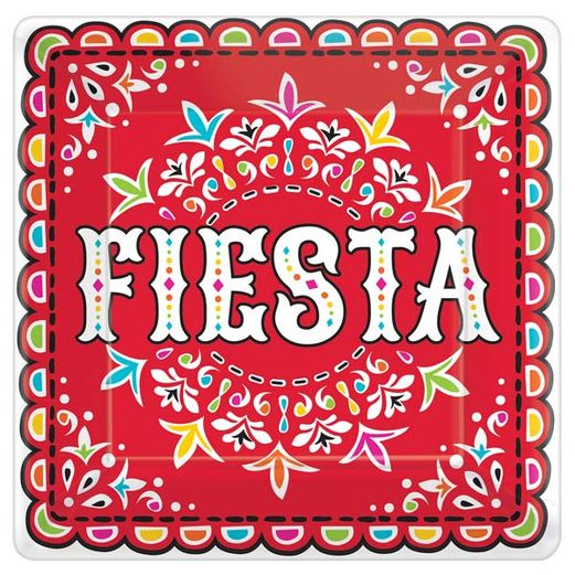 "Fiesta Table Accessories Picado de Papel 10"" Square Plates Image"