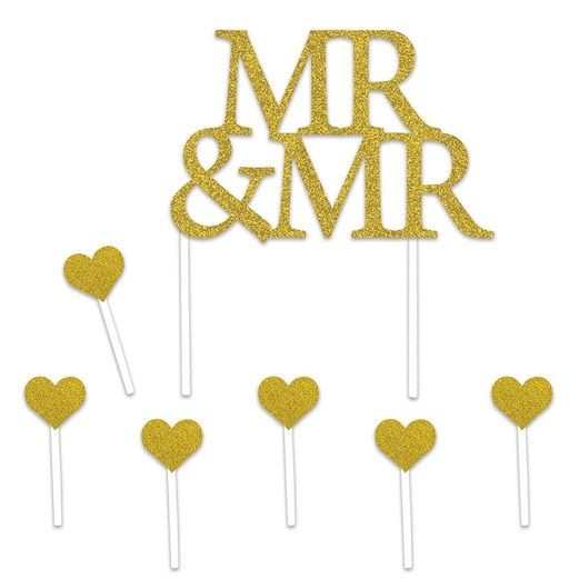 Wedding Decorations Mr & Mr Cake Topper Image