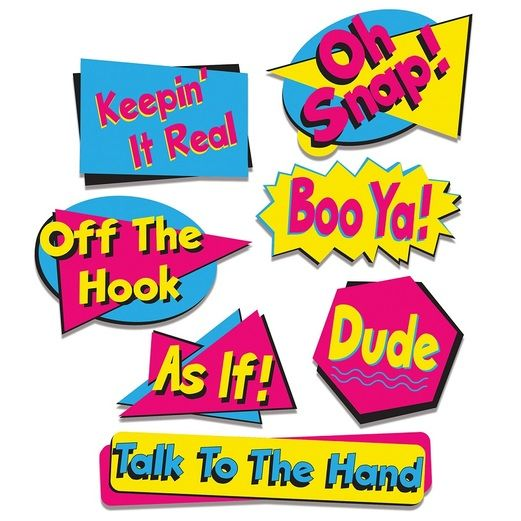 90s Decorations 90's Phrase Cutouts Image