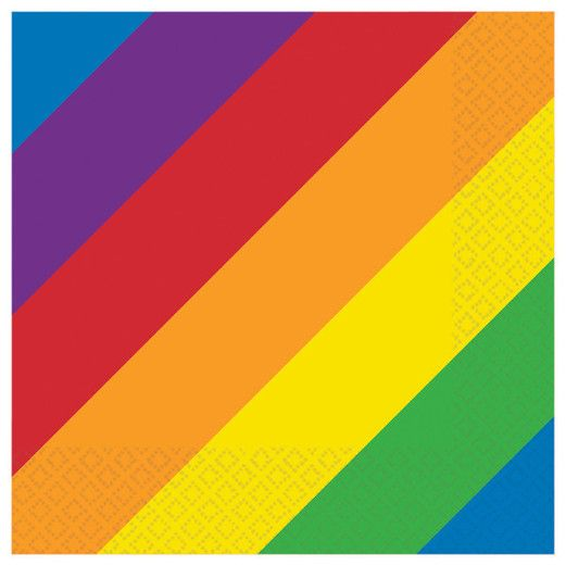 Table Accessories Rainbow Luncheon Napkins Image