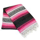 Fiesta Decorations Neon Pink Mexican Blanket Image