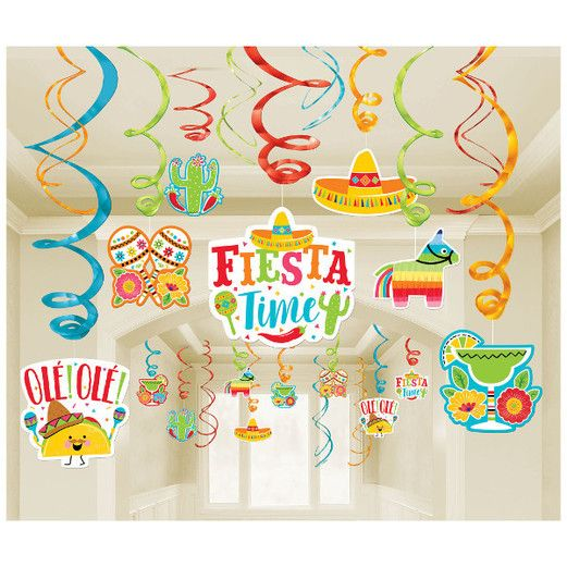 Fiesta Decorations Fiesta Mega Value Pack Swirls Image