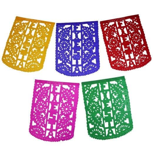 Cinco de Mayo Decorations Multicolor Fiesta Party Flags Image