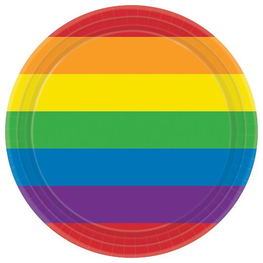 "Table Accessories Rainbow 9"" Plates Image"