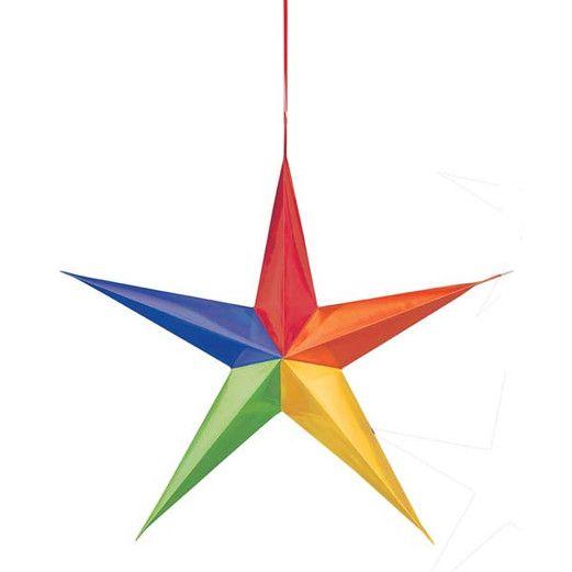 Decorations Rainbow Hanging 3D Stars Image