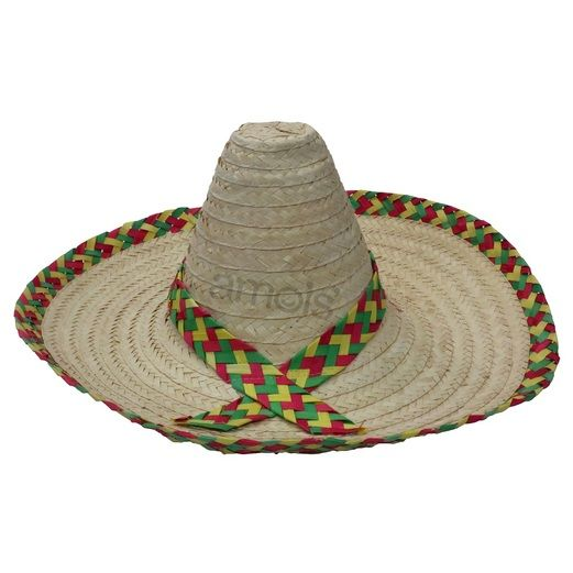 Fiesta Hats & Headwear Sombrero with Straw Weave Band Image