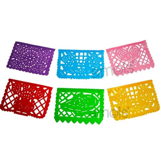 Fiesta Decorations Small Neon Plastic Picado Image