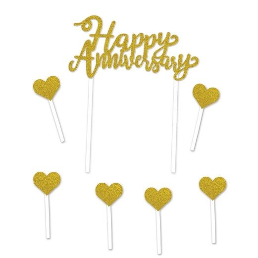 Anniversary Decorations Happy Anniversary Cake Topper Image