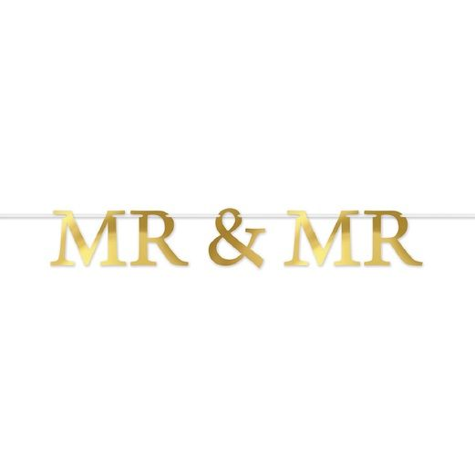 Wedding Decorations Foil Mr & Mr Streamer Image