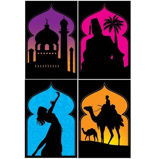 Birthday Party Decorations Arabian Nights Silhouettes Image