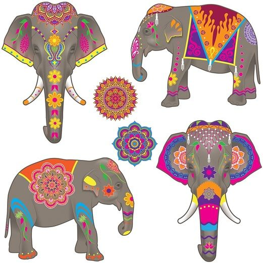 Birthday Party Decorations Elephant Cutouts Image