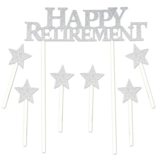 Retirement Decorations Happy Retirement Cake Topper Image
