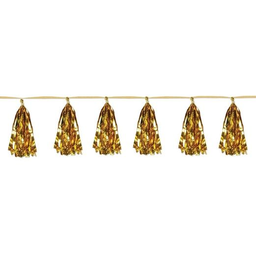 Graduation Decorations Gold Metallic Tassel Garland Image