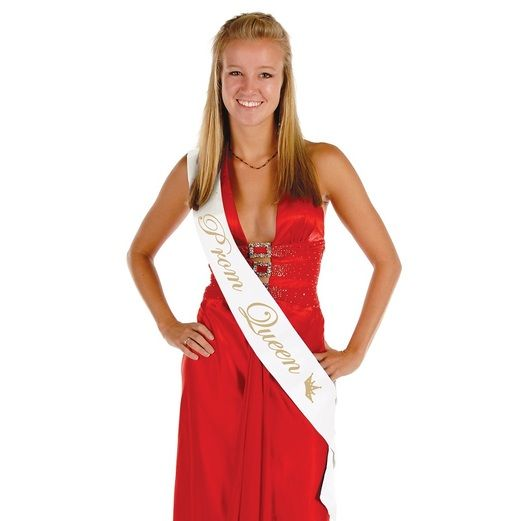 Graduation Party Wear Prom Queen Satin Sash Image