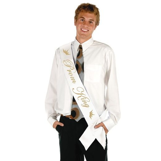 Graduation Party Wear Prom King Satin Sash Image