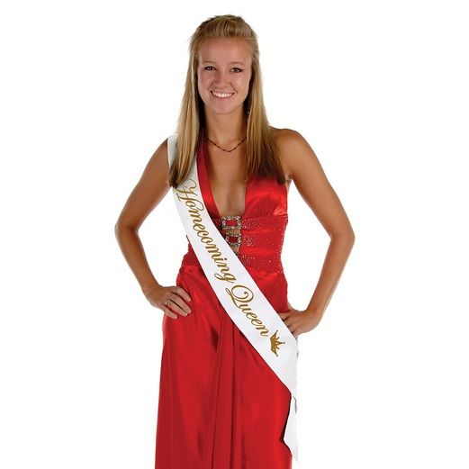 Graduation Party Wear Homecoming Queen Satin Sash Image