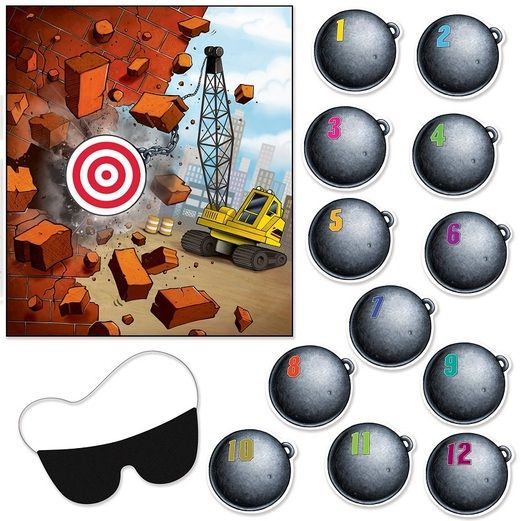 Birthday Party Decorations Pin the Wrecking Ball Game Image