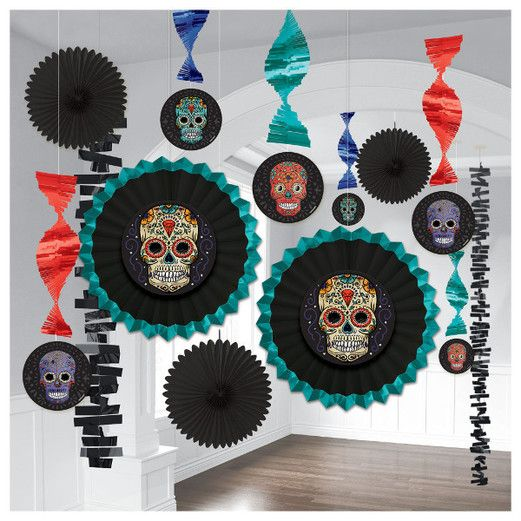 Day of the Dead Decorations Sugar Skull Kit Room Decor Image