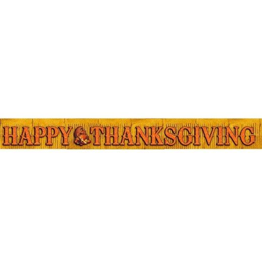 Thanksgiving Decorations Thanksgiving Foil Fringe Banner Image