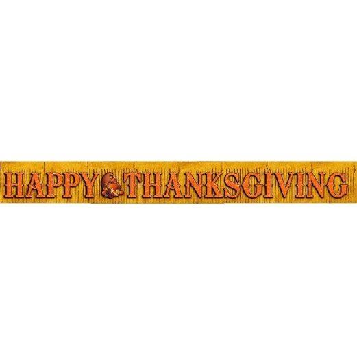 Thanksgiving Decorations Thanksgiving Foil Fringe Banner Image