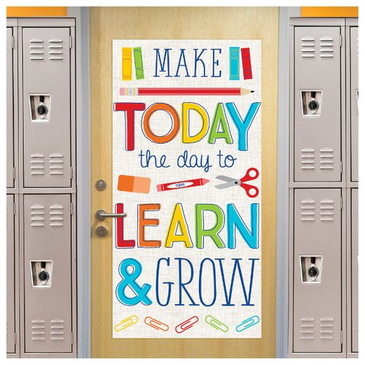 Decorations Learn and Grow Door Decoration Image