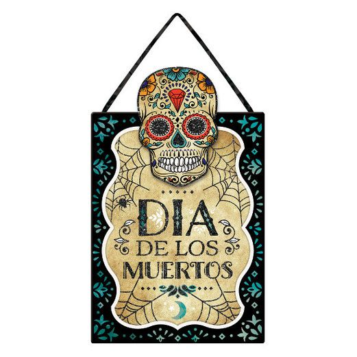 Day of the Dead Decorations Sugar Skull Sign Image