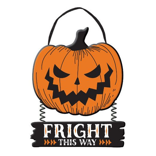 Halloween Decorations Fright this Way Sign Image