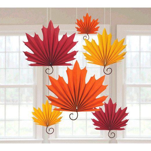 Thanksgiving Decorations Leaf Shaped Fans Image