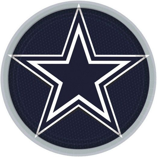 "Sports Table Accessories Dallas Cowboys 9"" Plates Image"