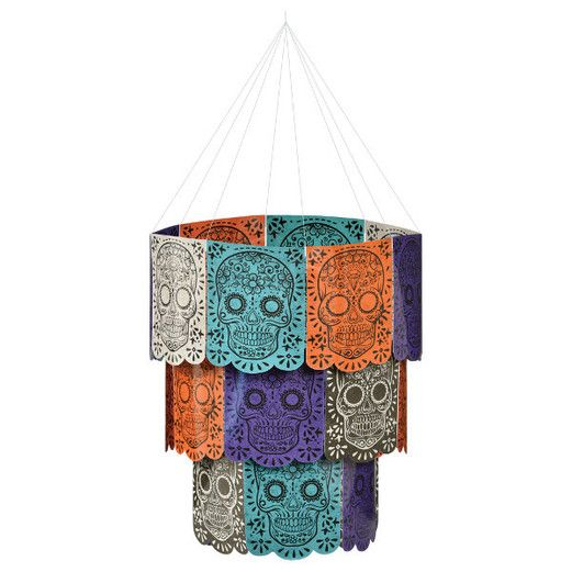 Day of the Dead Decorations Sugar Skull Chandelier Image