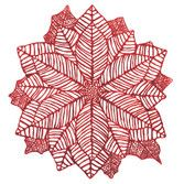Christmas Table Accessories Poinsettia Place Mat Image