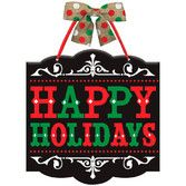 Christmas Decorations Happy Holidays Sign Image