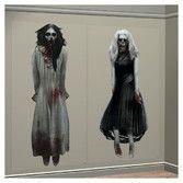 Halloween Decorations Ghost Girls Scene Setter Image
