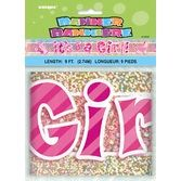 Baby Shower Decorations 9' It's A Girl Banner Image