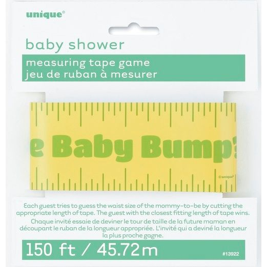 Baby Shower Favors & Prizes Measuring Tape Game Image