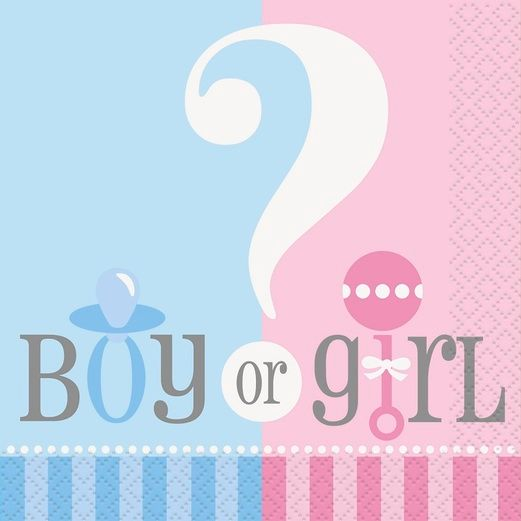 Baby Shower Table Accessories Gender Reveal Beverage Napkins Image