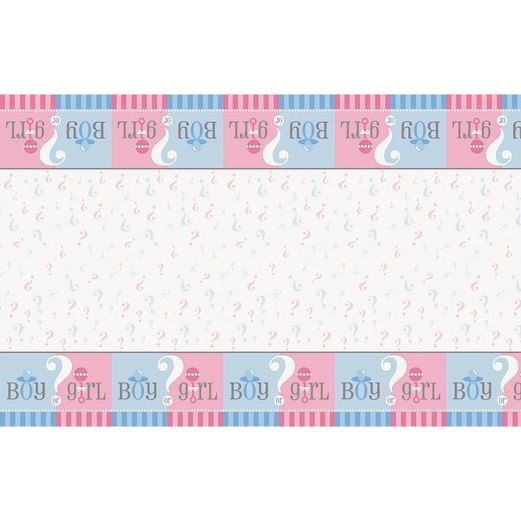 Baby Shower Table Accessories Gender Reveal Table Cover Image