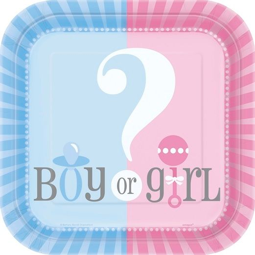 "Baby Shower Table Accessories Gender Reveal 7"" Plates Image"