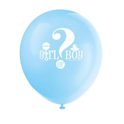 "Baby Shower Balloons Gender Reveal 12"" Balloons Image"