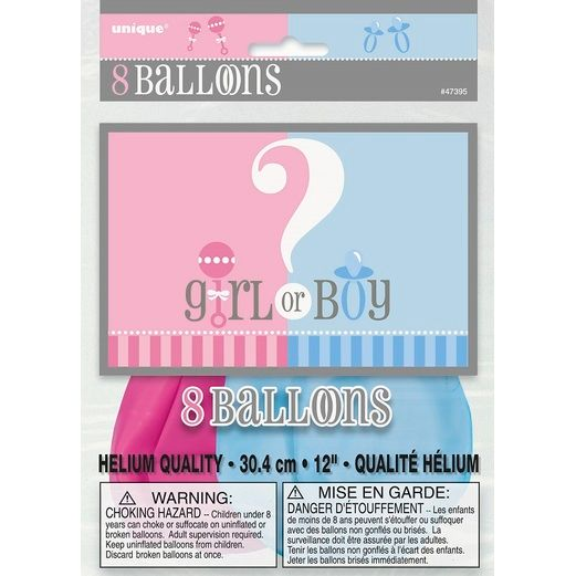 "Balloons / Latex Gender Reveal 12"" Balloons Image"