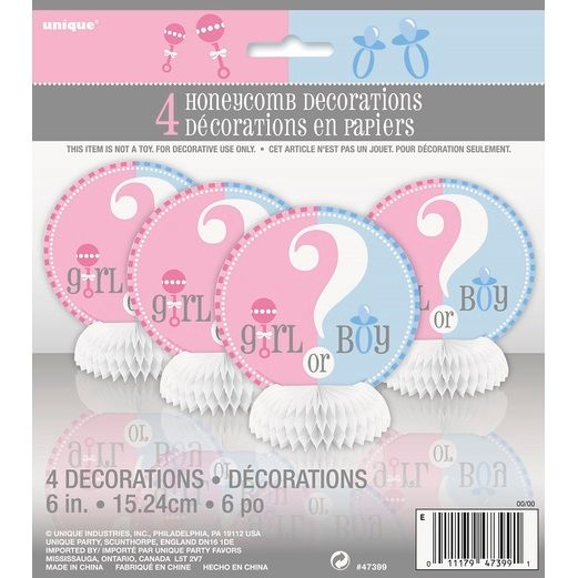 Baby Shower Decorations Gender Reveal Mini Centerpiece Image