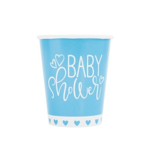 Baby Shower Table Accessories Blue Hearts Baby Shower Cups Image